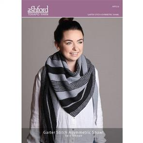 Ashford  Knitting Pattern - Garter Stitch Asymmetric Shawl
