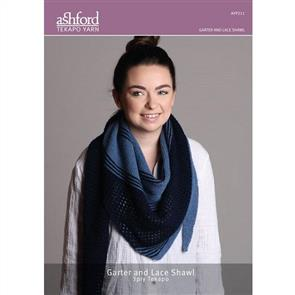 Ashford  Knitting Pattern - Garter and Lace Shawl