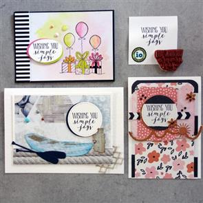 Impression Obsession Stamp - Wishing You Simple Joys