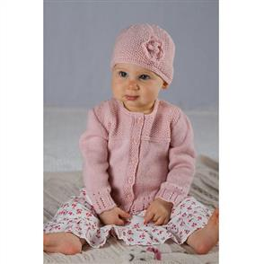 Lisa F  Baby Cakes BC39 Abigail Cardi and Hat