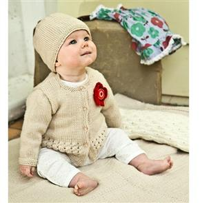 Lisa F  Baby Cakes BC40 Indiana Cardi and Hat