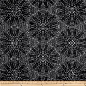 Benartex  Crochet Lace Dark Grey