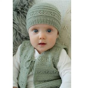 Lisa F  Baby Cakes - Faith Vest and Hat - Bc89 Knitting Pattern