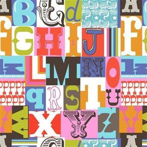 MISC  Blend Fabric - Letterpress Multi