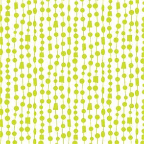 Benartex  Fandangle - Beaded Curtain Lime
