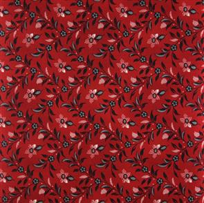 Blue Hill  Fabric - The Lancaster Collection - 8282 Red