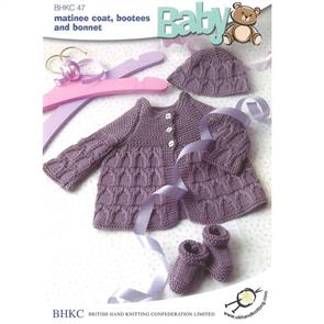 UKHKA BHKC 47 - Matinee Coat, Bootees and Bonnet