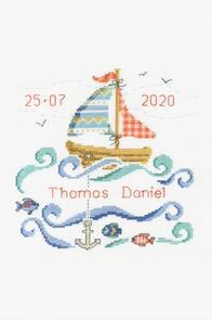 DMC  New Baby Cross Stitch Kit Sailboat
