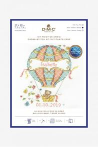 DMC  New Baby Cross Stitch Kit Hot Air Balloon