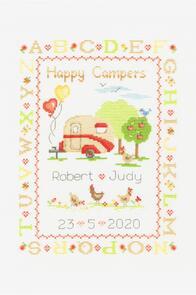 DMC  Happy Campers Cross Stitch Kit