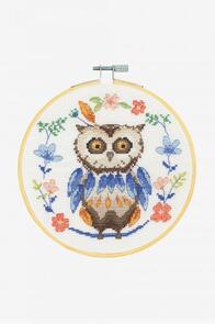 DMC Folk Owl Cross-Stitch Kit