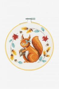 DMC Folk Squirrel Cross-Stitch Kit