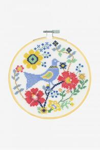 DMC A Bird in Flowers Cross-Stitch Kit