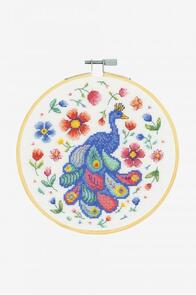 DMC Peacock and Florals Cross-Stitch Kit