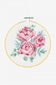 DMC Peonies Cross-Stitch Kit