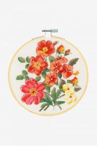 DMC Wild Roses Cross-Stitch Kit