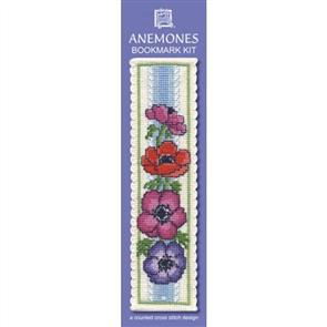 Textile Heritage  Bookmark Cross Stitch Kit - Anemones