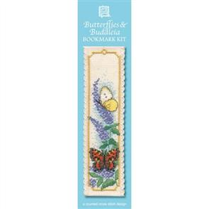 Textile Heritage  Bookmark Cross Stitch Kit - Butterflies & Buddleia
