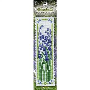 Textile Heritage  Bookmark Cross Stitch Kit - Bluebells
