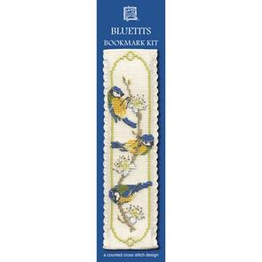 Textile Heritage  Bookmark Cross Stitch Kit - Bluetits