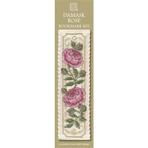 Textile Heritage  Bookmark Cross Stitch Kit - Damask Rose