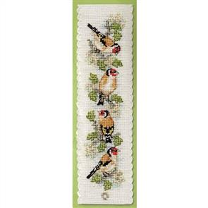 Textile Heritage  Counted Cross Stitch Bookmark Kit - Goldfinches