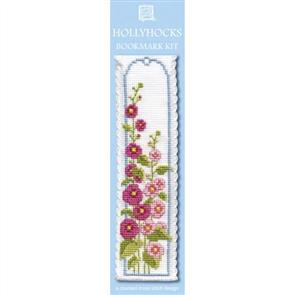 Textile Heritage  Bookmark Cross Stitch Kit - Hollyhocks