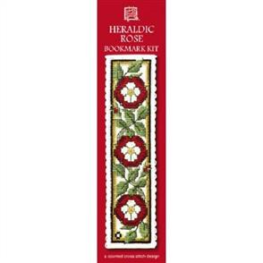 Textile Heritage  Bookmark Cross Stitch Kit - Heraldic Rose