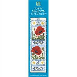 Textile Heritage  Bookmark Cross Stitch Kit - Poppy Meadow