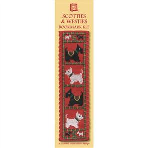 Textile Heritage  Bookmark Cross Stitch Kit - Scotties & Westies