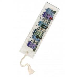 Textile Heritage  Bookmark Cross Stitch Kit - Town Houses
