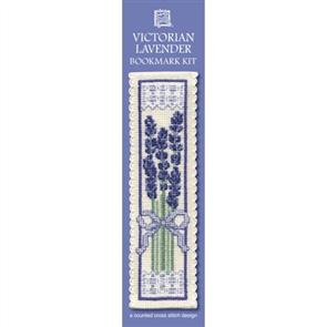 Textile Heritage  Bookmark Cross Stitch Kit - Victorian Lavender