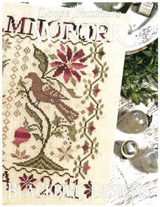 Blackbird Designs Cross Stitch Chart - Loose Feathers - Winter