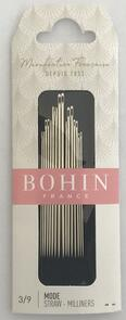 Bohin Milliners Assorted Sizes 3/9 - 15/pkt