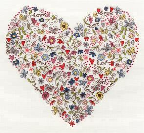 Bothy Threads  Love Heart - Cross Stitch Kit