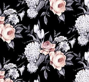 Blank Quilting  Florella - 9343 Black