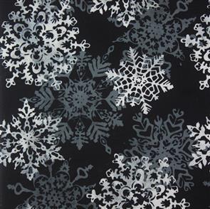 MISC  Batik - Snowflake Black