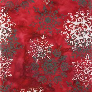 MISC  Batik - Snowflake Red