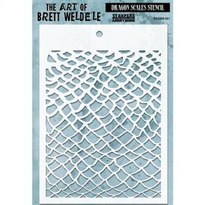 Stampers Anonymous Brett Weldele Stencil - Dragon Scales