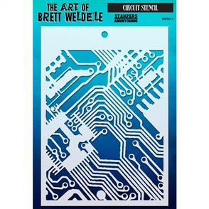 Stampers Anonymous  Brett Weldele Stencil - Circuit