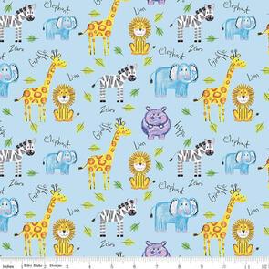 Riley Blake Colourful Friends - C11010 - Main Boy - Blue