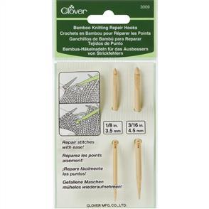Clover  Bamboo Knitting Repair Hooks