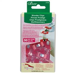 Clover Wonder Clips - 50/pack Red
