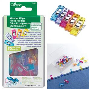Clover Wonder Clips 50pc Assorted