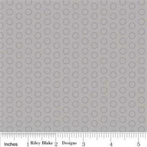 Riley Blake  Circle Dot - Grey 108