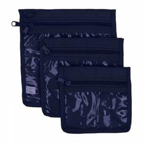 Yazzii Craft Pouches 3pc set Navy