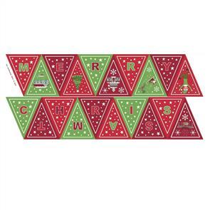 "Hoffman Fabric  Christmas Glow Banner Panel 45.5cm (17.5"")"