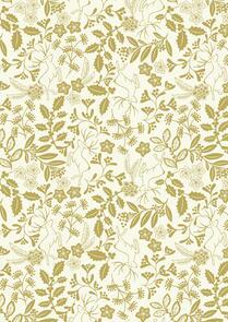 Lewis & Irene  Noel - Metallic Gold on Cream - C65-1