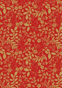 Lewis & Irene  Noel - Metallic Gold on Red - C65-2