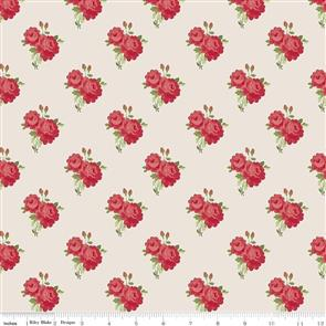 Riley Blake  Harry & Alice - Small Floral Red / Cream